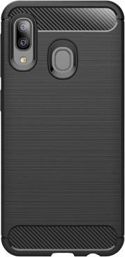 Puzdrá Samsung Púzdro Carbon Samsung A20e, čierna