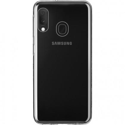 Puzdrá Samsung Zadný kryt pre Samsung A20e, Slim, priehľadná