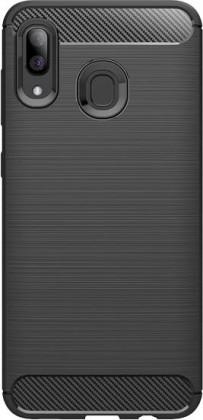 Puzdrá Samsung Zadný kryt pre Samsung Galaxy A40, karbón, čierna