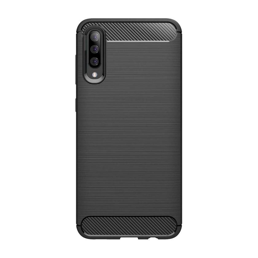 Puzdrá Samsung Zadný kryt pre Samsung Galaxy A50, karbón, čierna