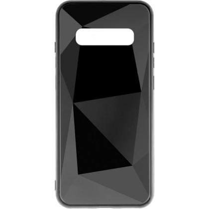 Puzdrá Samsung Zadný kryt pre Samsung Galaxy S10 Plus, 3D prismatic, čierna