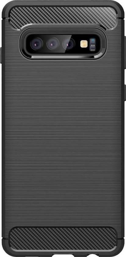 Puzdrá Samsung Zadný kryt pre Samsung Galaxy S10 Plus, karbón, čierna