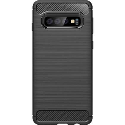 Puzdrá Samsung Zadný kryt pre Samsung Galaxy S10e, karbón, čierna