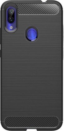 Puzdrá Xiaomi Púzdro Carbon Redmi Note 7, čierna