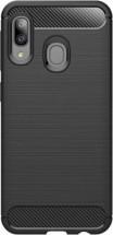 Púzdro Carbon Samsung A20e, čierna