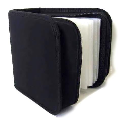 Puzdro na 48 CD NN box, zapínacie, čierne