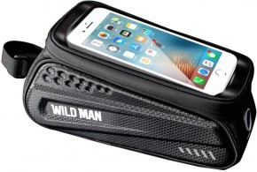 Puzdro na mobil na bicykel na rám WILD MAN ES3, čierne