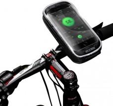 Puzdro na mobil na bicykel na riadidlá WILD MAN H16, čierne