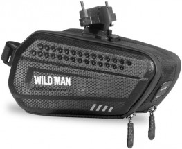 Puzdro na mobil na bicykel pod sedadlo WILD MAN ES7, čierne