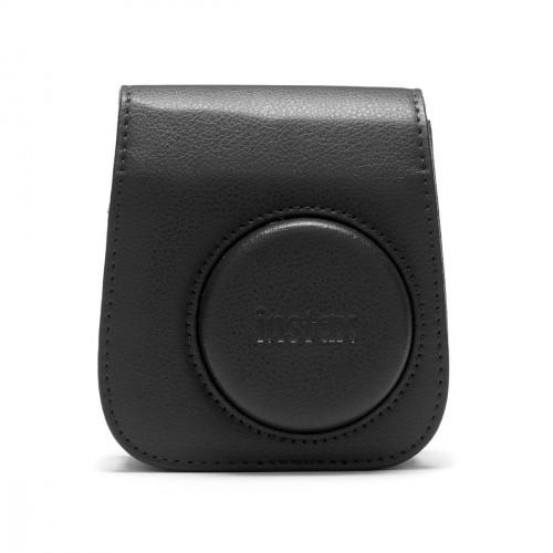 Puzdro pre fotoaparát Instax Mini 11, kožené, popruh, čierna