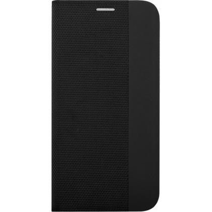 Puzdro pre Motorola One Fusion Plus, Flipbook Duet, čierna