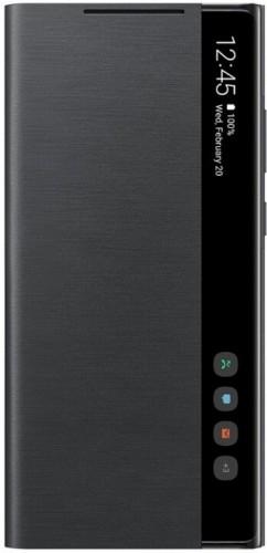 Puzdro pre Samsung Galaxy Note 20, clear view flip, čierna