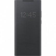Puzdro pre Samsung Galaxy Note 20, LED view flip, čierna