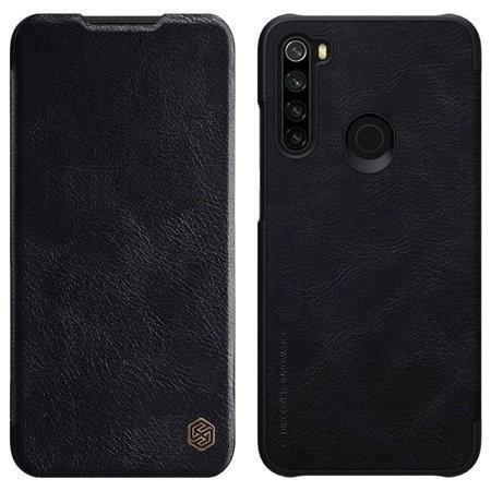 Puzdro pre Xiaomi Redmi Note 8, kožený, čierna