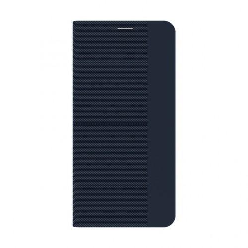 Púzdro Samsung Galaxy A12, flipbook, tmavá modrá