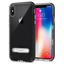 Púzdro SPIGEN Crystal Hybrid iPhone X čierne