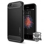 Púzdro SPIGEN Rugged Armor iPhone 5/SE čierne