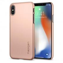 Púzdro SPIGEN Thin Fit iPhone X rose gold