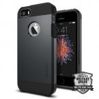 Púzdro SPIGEN Tough Armor iPhone SE/5/5s metal slate
