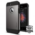 Púzdro SPIGEN Tough Armor iPhone SE/5/5s metalické