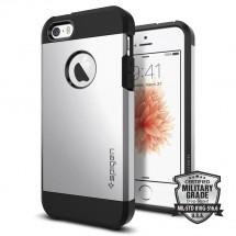 Púzdro SPIGEN Tough Armor iPhone SE/5/5s strieborne