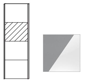 Quadra - dvere posuvné k šatníkovej skrini 48K1
