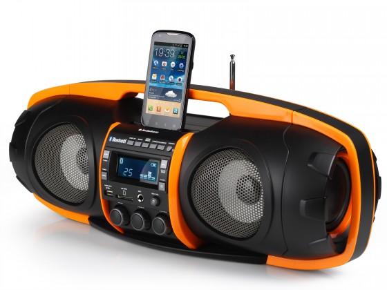 Rádia s CD Audiosonic RD-1549, čierna/oranžová