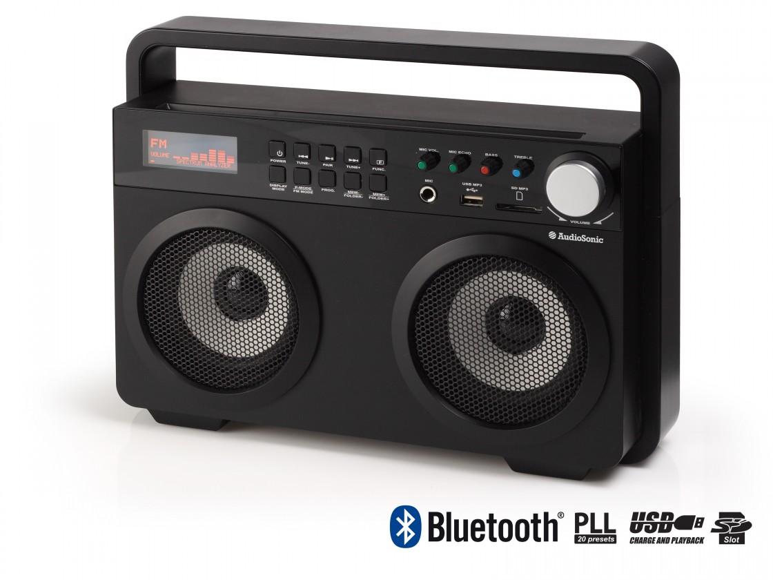 Rádia s CD Audiosonic RD-1557, čierna