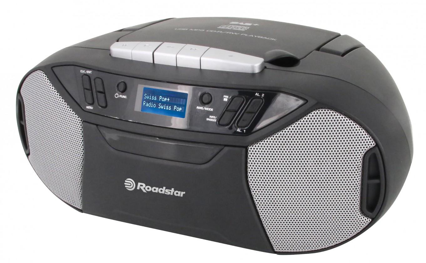 Rádia s CD Rádio Roadstar RCR-777UD s CD, USB, DAB+ a digitálním FM tunerem