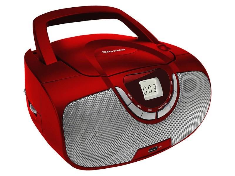 Rádia s CD Roadstar CDR-4550U/RD Přenosný přehrávač ROZBALENO