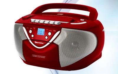 Rádia s CD Roadstar RCR-4650USMPR (Red)