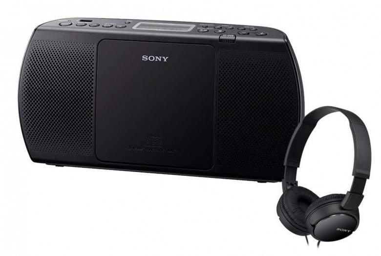 Rádia s CD Sony ZS-PE40CPB + MDR-ZX110B (Black)