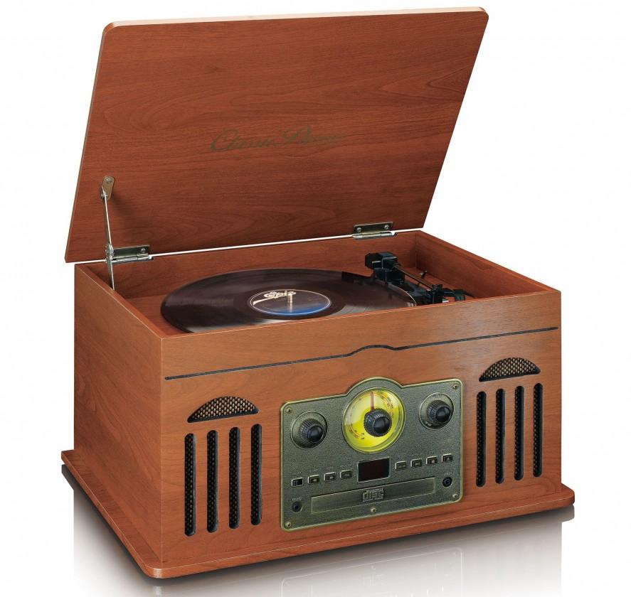 Rádiomagnetofón Retro gramofón Lenco TCD2600, hnedý