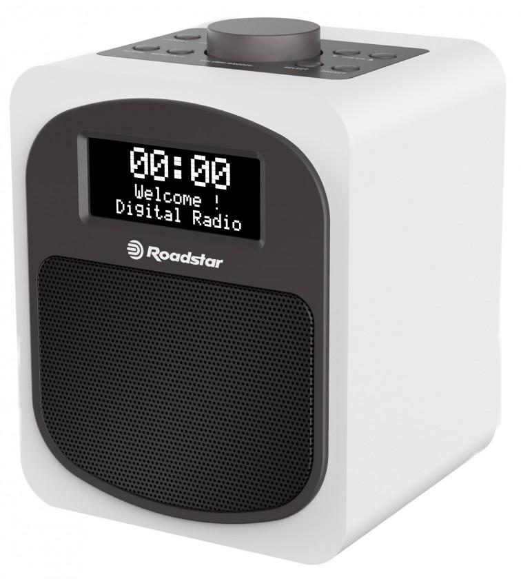 Rádiomagnetofón Retro rádio Roadstar HRA-600D biely