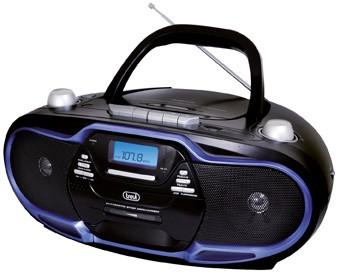 Rádiomagnetofón Trevi CMP 574, čierno-modrý