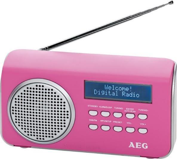 Rádioprijímač AEG DAB 4130 (Pink)
