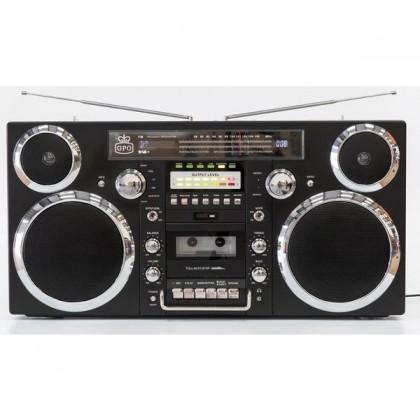 Rádioprijímač GPO BROOKLYN Black CD CD-R CD-RW USB AM DAB+ FM