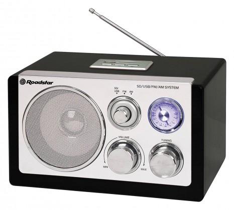 Rádioprijímač Roadstar dřevěné rádio HRA-1320 US/Black ROZBALENO