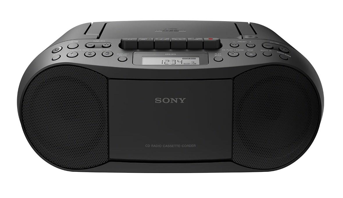 Rádioprijímač SONY CFD-S70B, čierna