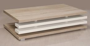 Rail 2 - Konferenčný stolík obdĺžnikový (bardolino/biela arctic)