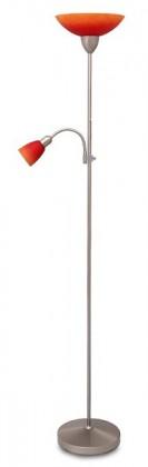 Rainbow - Lampa, E27 (hodvábne lesklá chromová/červeno-oranžová)