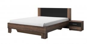 Rám postele Vera 160x200, 2 nočné stolíky, dub