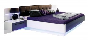 Recover - komplet, posteľ 180cm (biely lesk, dub čierny)