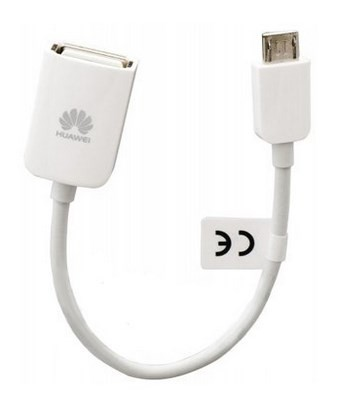 Redukcie a ostatné p HUAWEI OTG kabel pro externí USB paměť, White