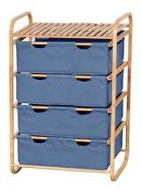 Regál DR-018A (bambus / modrá)