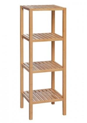 Regál Regál DR-011-4 (bambus lakovaný)