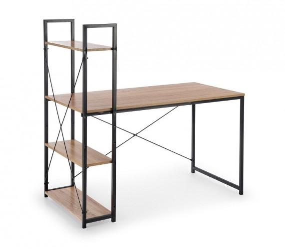 Regál s písacím stolom Jerico (dub sonoma, čierna)