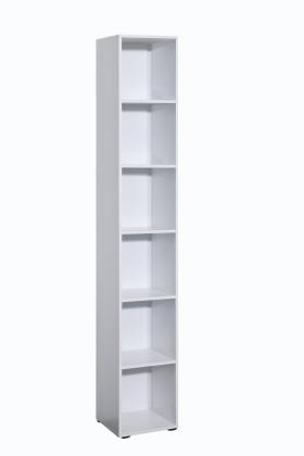 Regál Work - Regál úzky, 5 políc (biela)