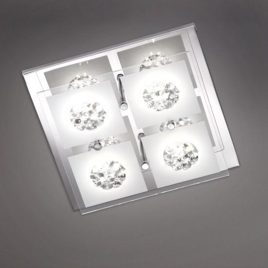 Reims - Nástenné svietidlo, LED (chróm)