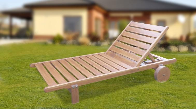 Relax - Polohovacie ležadlo (prírodné bez povrchovej úpravy)